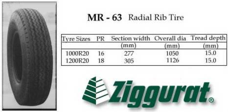 ZIGGURAT MR-63 Radial Rib Tire