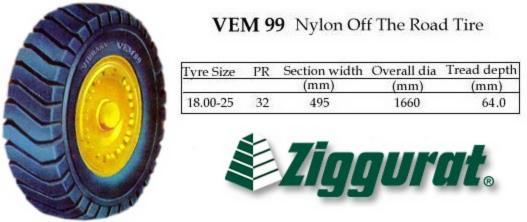 ZIGGURAT Nylon Off-the-Road Tire